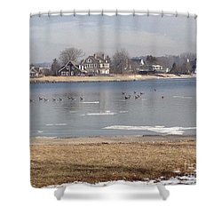 Time In New England Shower Curtain