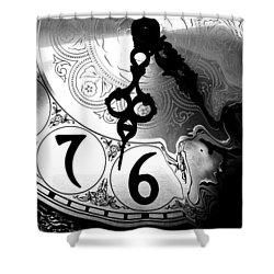 Time Is An Illusion Shower Curtain