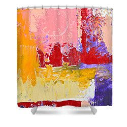 Time Is Fading Away Shower Curtain by Donna Blackhall