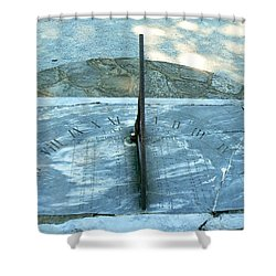 Time Keeps On Ticking Shower Curtain by Michael Porchik