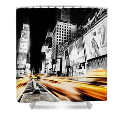 Time Lapse Square Shower Curtain