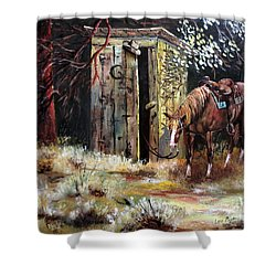 Time Out Shower Curtain by Lee Piper
