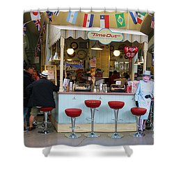 Time Out Snack Bar In Bath England Shower Curtain by Jack Schultz