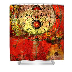 Time Passes Shower Curtain by Ally  White