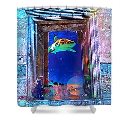 Time Portal Shower Curtain