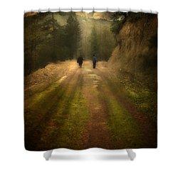Time Stand Still Shower Curtain by Taylan Apukovska