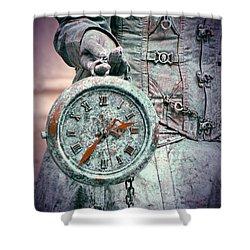 Time Time Time Shower Curtain by Jaroslaw Blaminsky