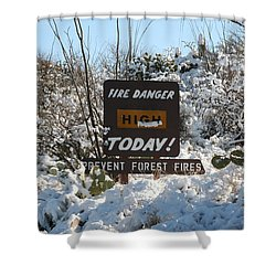 Shower Curtain featuring the photograph Time To Change The Sign by David S Reynolds