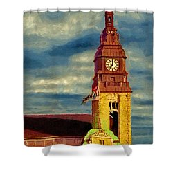 Shower Curtain featuring the painting Time To Go by Jeff Kolker