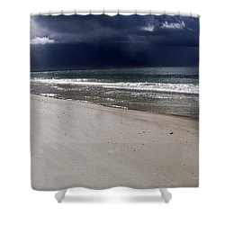 Time To Go Shower Curtain by Karen Wiles