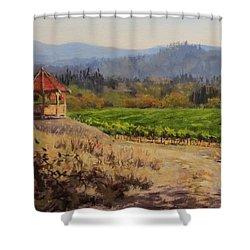 Time To Harvest Shower Curtain by Karen Ilari