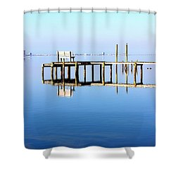 Time To Reflect Shower Curtain by Faith Williams