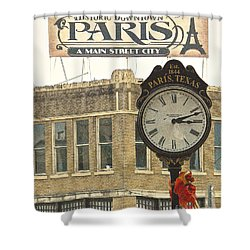 Time To Visit Paris Shower Curtain