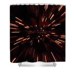 Time Travel Shower Curtain by Dan Sproul