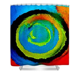 Time Traveler  Shower Curtain by Lisa Kaiser