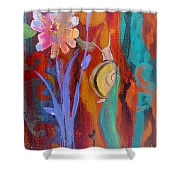 Shower Curtain featuring the painting Time Traveler by Robin Maria Pedrero