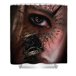 Time Travler  Shower Curtain