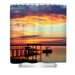 Time Waits For No One Shower Curtain by Karen Wiles