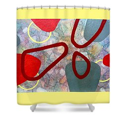 Shower Curtain featuring the painting Time Warp - For Mica by Jim Whalen