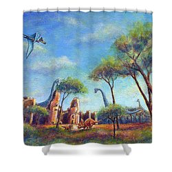 Shower Curtain featuring the painting Timeless by Retta Stephenson