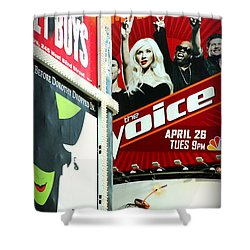 Times Square Billboards Shower Curtain