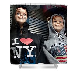 Times Square Kids Shower Curtain by Ed Weidman