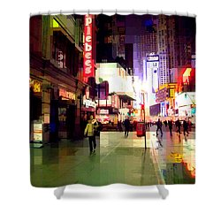 Times Square New York - Nanking Restaurant Shower Curtain