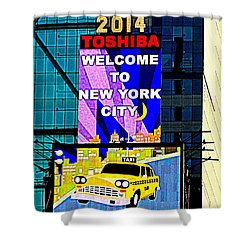 Times Square New Years Eve Ball Shower Curtain by Ed Weidman