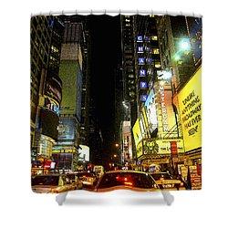 Times Square Photofresco Shower Curtain by Joseph Hedaya
