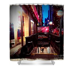 Times Square Station Shower Curtain by James Aiken