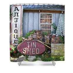 Tin Shed Apalachicola Florida Shower Curtain