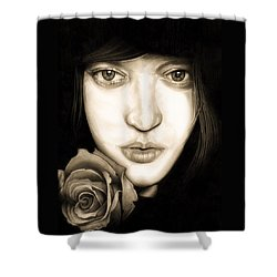 Tina Ayres Shower Curtain by Fred Larucci