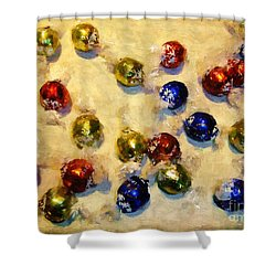 Tinfoiled Truffles Shower Curtain by RC deWinter