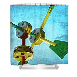 Tinkertoys Shower Curtain