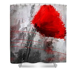 Tint Of Red Shower Curtain