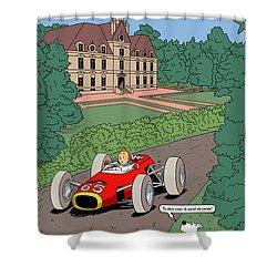 Tintin Grand Prix De Moulinsart 1965  Shower Curtain