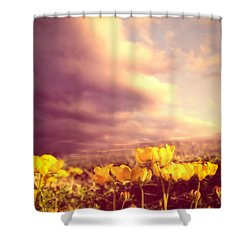 Tiny Flowers Shower Curtain by Bob Orsillo