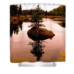 Shower Curtain featuring the photograph Tiny Island by Karen Shackles