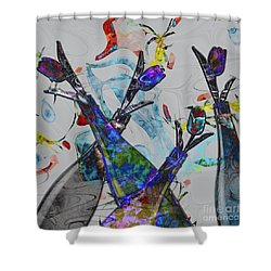 Tippy Tulips Shower Curtain by Liane Wright