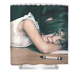 Tired Girl By Jan Marvin Shower Curtain