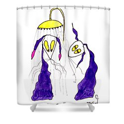 Tis Long Cold Shower Shower Curtain by Tis Art