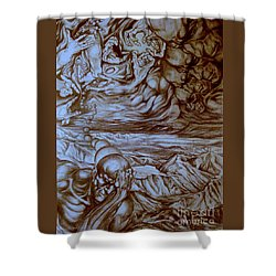 Titan In Desert Shower Curtain