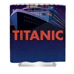 Titanic 100 Years Commemorative Shower Curtain by Leslie Alfred McGrath