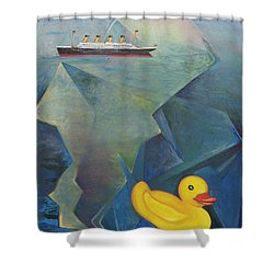 Titanic And The Ducky Shower Curtain