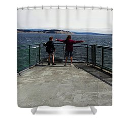 Titanic Influence Shower Curtain by Natalie Ortiz