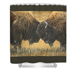 Titans Of The Plains Shower Curtain