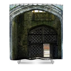 Titchfield Abbey Gatehouse Shower Curtain by Terri Waters