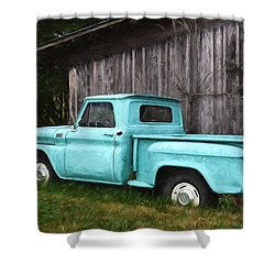 To Be Country - Vintage Vehicle Art Shower Curtain
