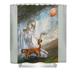 To Hold On The Ground Shower Curtain by Elisheva Nesis
