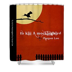 To Kill A Mockingbird Book Cover Movie Poster Art 1 Shower Curtain by Nishanth Gopinathan